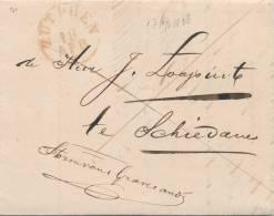 197/20 - NETHERLANDS Prephilatelic Cover ZUTPHEN 1838 To SCHIEDAM - Pays-Bas