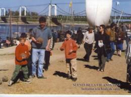 Montjean-sur-Loire..très Animée..Fête De La Loire..sur Les Quais..boules..pétanque..jeux De Boules Gabare Bateau - Other Municipalities
