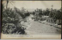 Algerie L OUED EL KANTARA Et Oasis LL N° 4 Voyagé 1925 Cachet Ambulant Constantine 532 C - Constantine