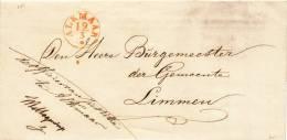 203/20 - NETHERLANDS Prephilatelic Franchise Cover ALKMAAR - De Officier Van Justitie - Pays-Bas