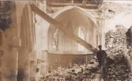 CP Photo 14-18 MAYOT (près La Fère) - Soldats Allemands à L´intérieur De L´église Détruite (A22, Ww1, Wk1) - Non Classés
