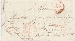 205/20 - NETHERLANDS Prephilatelic Franchise Cover AMERSFOORT 1828 - FRANCO + De Officier ... - Pays-Bas