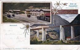 Gruss Aus FRANZENSFESTUNG (Tirol, Brennerbahn), Bahnhof, Gelaufen Von Franzensfeste Nach Kaltenleutgeben 1900 - Non Classificati