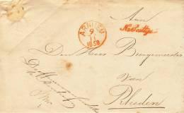 209/20 - NETHERLANDS 2 X  Prephilatelic Franchise Cover ARNHEM 1858 - De Officier Van Justitie - Pays-Bas