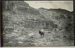 Algerie Village De Tilatou Les Gorges Homme Et Ane ND N° 253 Voyagé 1912 Timbre Cachet Ambulant Constantine - Constantine