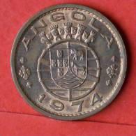 ANGOLA  1  ESCUDOS  1974   KM# 76  -    (1308) - Angola