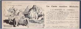 Pub  Papier 1919 Automobile Pneu  MICHELIN Humour Dessin Automobiles Bibendum - Publicités