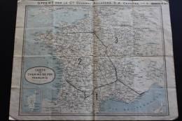 Carte Des Chemins De Fer Français Campagne Hiver 1932/33, Offert Cieà Général Adouanera SA Cerbère/Hendaye 66 - Europe