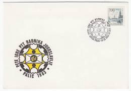 POST - Meetings Postal Workers Palić - Subotica 1983. Cover, Commemorative Seal - Post