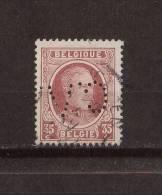 BELGIQUE - Y&T N° 201° - Perforé - Perfin - Albert 1er - 1909-34