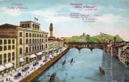 Firenze Hotel D Albion 1900 Postcard - Firenze