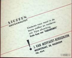 Pub. Reclame Maldegem Kaartje Kledij Van Moffaert - Cartes De Visite