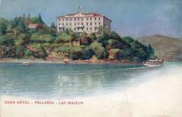 Pallanza Eden Hotel 1900 Postcard - Verbania