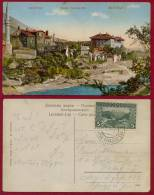 BOSNIA, MOSTAR-PANORAME/RAILWAY TPO CANCEL GRAVOSA-SARAJEVO 116 PICTURE POSTCARD 1912 - Bosnia And Herzegovina