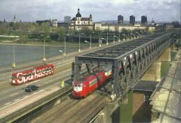Elektro-Schnellzuglokomotive 103 144-2 Der DB AG Auf Der Rheinbrücke Nach Ludwigshafen - Eisenbahnen