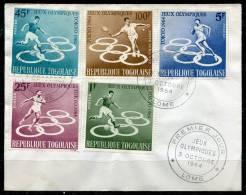 TOGO - Y&T 425 à 428 + PA 45  Sur Enveloppe 1er Jour (Jeux Olympiques Tokyo) - Togo (1960-...)