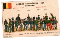 Une Carte Qui Represente La Guerre Européenne 1914 Armée BELGE - Belgique