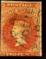 AUSTRALIA/SOUTH AUSTRALIA - 1856  2d. ORANGE RED  FINE USED - Usati