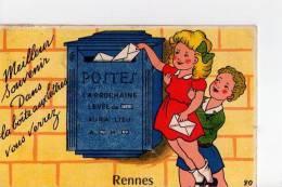 ILLE ET VILAINE - Rennes -Meilleur Souvenir Dans La Boîte Aux Lettres Vous Verrez - Carte à Système - Dépliant 10 Vues - Dinard