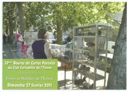 Club Cartophile De L'yonne , Auxerre Foire Et Marché De L' Yonne, Cpm Tirage Limité D'après Une Photo De M WOROBEL - Bourses & Salons De Collections