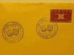 88 GERARDMER CAD 19-20/10/63 Sur Devant D´enveloppe Jumelage Blasons - Marcophilie (Lettres)