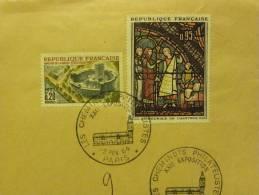 75 PARIS CAD 1-2/02/64 Sur Devant D´enveloppe XXIème Expo Cheminots Philatélistes - Marcophilie (Lettres)