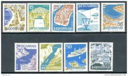 YU 1962-994-1002  TURISAM, YUGOSLAVIA, 1 X 9v , MNH - Ferien & Tourismus