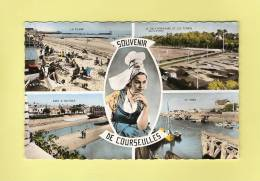 *  CPSM..photo..( Dépt 14 )..COURSEULLES Sur MER  :  Souvenir De Courseulles- Multi Vue  - ( 2 Scans ) - Sonstige Gemeinden
