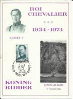 TOP!! BELGIEN * KÖNIG ALBERT 1934 - 1974 * AUF KARTE **!! - Belgien