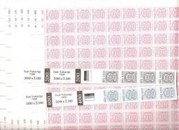 Estonia 1991 Nuovo** - Yv.179/87  Mi.165/73  N°7 Fogli 100x + 1R E 2R In Strisce 100x - Estonia