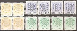 Estonia 1992 Nuovo** - Yv.197/99   Mi.183/85   4x - Estonia