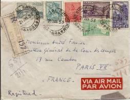 ENVELOPPE INDIA AVEC TIMBRES ET CACHET R 157 ENVOYE A LA COUR DES COMPTES A PARIS 1953 - Unclassified