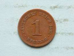 1892 F / 1 Pfennig - KM 10 ( Uncleaned Coin / For Grade, Please See Photo ) !! - [ 2] 1871-1918: Deutsches Kaiserreich