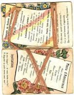 Double Carte Fantaisie Sur Le Mariage,  Le Repas,  Le Voyage De Noces. - Noces