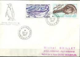 Albatros Fuligineux & Alevinage Des Saumons, Sur Lettre Postée Dumont D´Urville 20 Dec 1977 - Unclassified