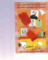 VESOUL     HAUTE SAONE   CINEMA D'ASIE  13 FESTIVAL INTERNATIONAL - Vesoul