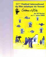 VESOUL     HAUTE SAONE   CINEMA D'ASIE  11 FESTIVAL INTERNATIONAL - Vesoul