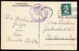 A1495) DR Karte Von Burg Neuschwanstein Von München 22.7.1927 Mit Burgstempel - Deutschland