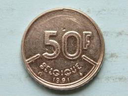 1991 FR - 50 Francs / KM 168 ( Uncleaned - For Grade, Please See Photo ) ! - 08. 50 Francs