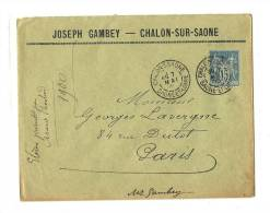 SAÔNE & LOIRE (70) – CHALONS-S-SAONEDag.Jum. T84  7 MAI 00/101 TIIG  (DREYFUS Daguin Non Signalé)LSI – T - 1876-1898 Sage (Type II)