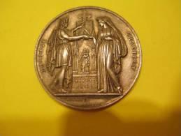 Médaille De MARIAGE/Georgette HUSSON/Louis BAUDRY/Argent/1880   CAN22 - France