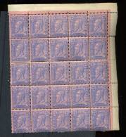 Bloc De 25 X N°48 (dont 13* Et 12**)  Cote 834 Euros   25c Bleu/rose - 1883 Léopold II