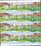 """San Marino 1994 Calcio Soccer Mondiali Di Calcio """"USA 94"""" -  Minifoglio Con 4 Complete Set Di 5v  ** MNH - Unused Stamps"""