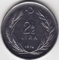 @Y@   Turkije   2 1/2 Lira 1974   BU  (C627) - Turquie