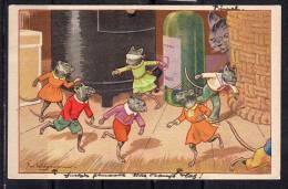 Jan Wiegman Blindemannetje 30.7.1945 (c17) - Children's Drawings