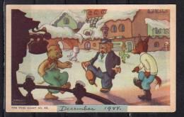 Marten Toonder Tom Poes Kaart Serie 8, Nr. 44 Verstuurd 23 Mei 1945!! (C21) - Disegni Infantili