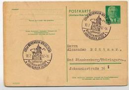 KLOSTER MEDINGEN Bevensen Niedersachsen 1957 Auf DDR P70 IA Antwort-Postkarte DV III/18/97 - Klöster