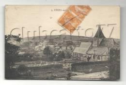 Criel-sur-Mer (76) : Vue Générale Prise De L´église Et Du Cimetière En 1921. - Criel Sur Mer
