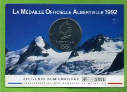 MEDAILLE OFFICIELLE ALBERVILLE 1992 MONNAIE DE PARIS JEUX OLYMPIQUES D HIVER EN TRES BON ETAT - France