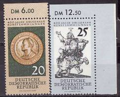28-147  // DDR - 1960 250 Jahre Dresdener Kunstsammlung   Mi 791/92 ** Randsatz - Ungebraucht